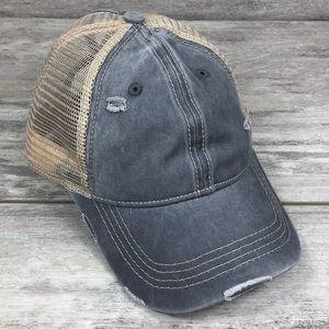 C.C. Messy bun baseball hat